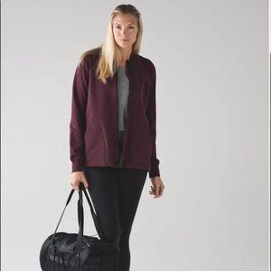 Lululemon Pleat to Street bomber jacket